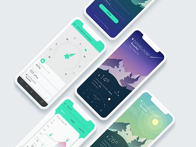 WeatherApp design app designer illustrator environmental design weather icon weather app mountains uidesign mobile app mobile ui design ui design app ui