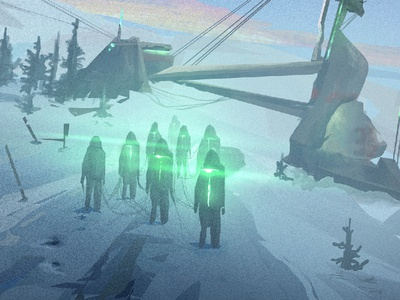 Abducted worlds wacom digitalillustration digital scifi forest illustration digital illustration environment concept photoshop