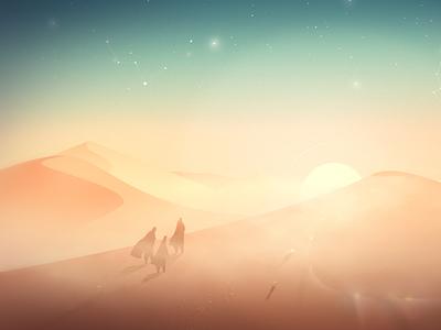 The way sun kings desert environment concept night