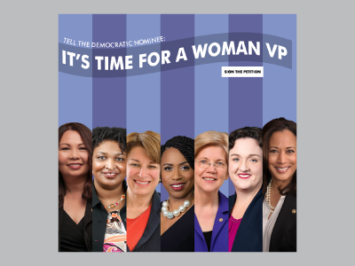 Digital Ad for Women Focused Political Group voting politics digital