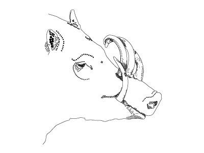 Babirusa Zoodle babirusa animal drawing illustration vector pointillism
