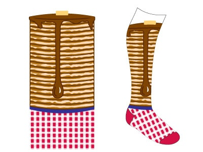 Blue Plate Special Sock