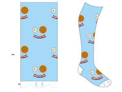 Happy Breakfast Sock