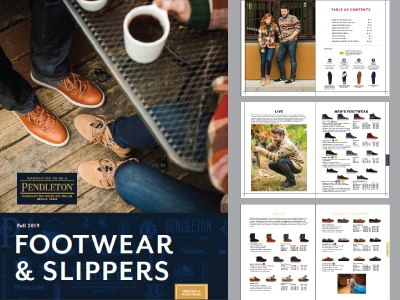 Pendleton Footwear Catalog catalog design wholesale print footwear line sheet catalog