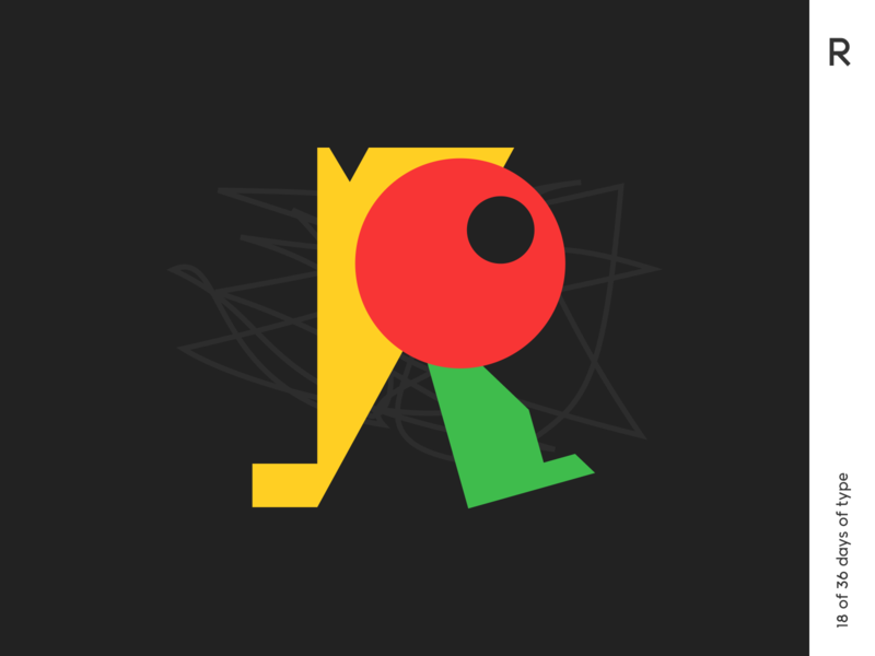 36 days | R 36daysoftype icon logo typography illustration minimalism typo poster graphic qurle design