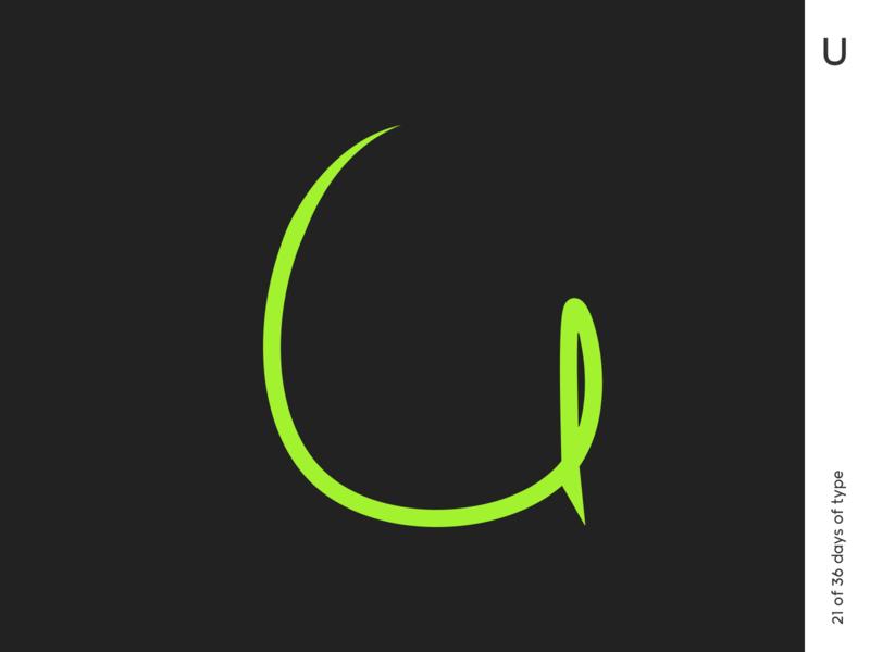 36 days | U 36dayoftype vector typography typo minimalism poster graphic qurle design
