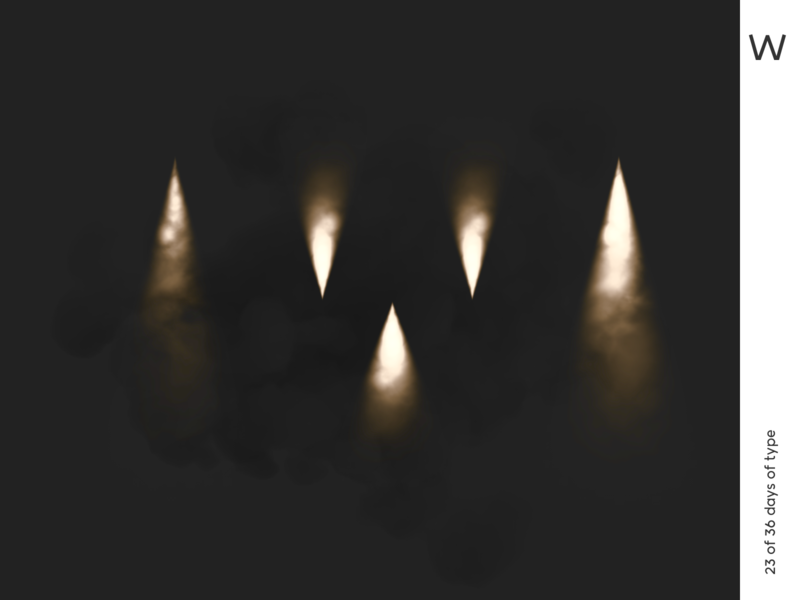 36 days | W light 3d smoke 36dayoftype typography typo poster graphic qurle design
