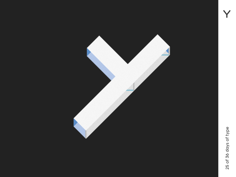 36 days | Y minimalism 36dayoftype typography illustrator vector logo typo poster architect architecture qurle design