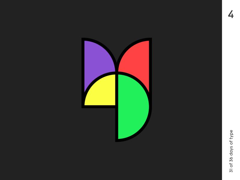 36 days | 4 vitrage 36dayoftype typography typo minimalism poster graphic qurle design