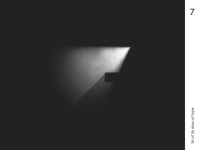 36 days | 7 36dayoftype typography typo minimalism graphic design qurle light volumetric render 3d c4d
