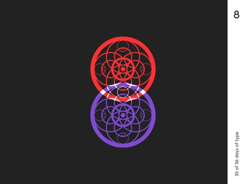 36 days | 8 36dayoftype typography typo minimalism circles pattern graphic qurle design