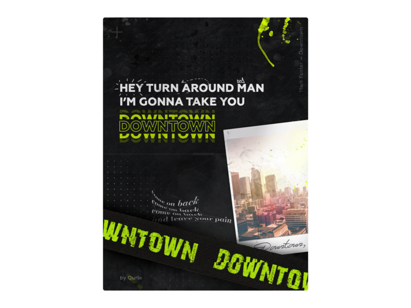 Downtown in LA photoshop foster downtown los angeles cover art music song typography typo poster graphic qurle design