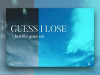 LNT | Guess I Lose lyrics illustration lnt night thoughts late graphic qurle poster design