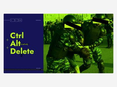 Ctl + Alt + Delete