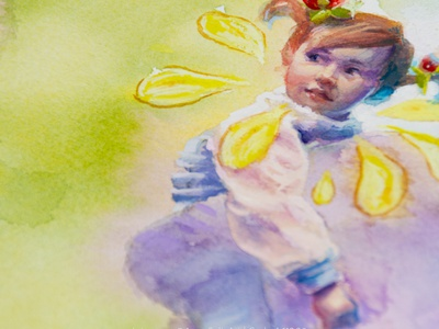 Watercolor + white gouache girl portrait painting child childrens illustration kids illustration kid little girl cute illustration cute art portrait portrait painting portrait art portrait illustration drawing painting illustration art watercolor painting watercolor art watercolors watercolour watercolor illustration
