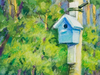 Mixed media watercolor + colored pencils Birdhouse art nature art nature illustration forest gouache colored pencils birdhouse miniature watercolor illustration watercolor painting watercolor art watercolor illustraion art drawing painting landscape painting landscape illustration landscape concept art illustration