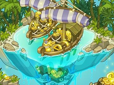 Finikia background decor for Treasure Hunters game isometric item finikia game art decor treasure hunters adobe flash concept art pykodelbi anna ivanova nikita oscolcov background