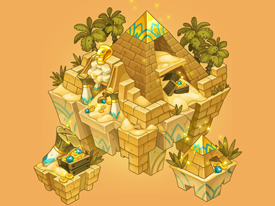 Egypt background for Treasure Hunters background nikita oscolcov anna ivanova pykodelbi concept art adobe flash treasure hunters decor game art egypt maze isometric