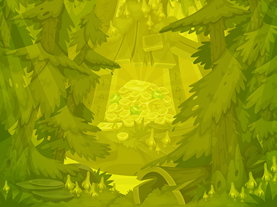 Sumer forest shack bg for TreasureHunters game forest shack isometric sumer game art decor treasure hunters adobe flash concept art pykodelbi anna ivanova nikita oscolcov background