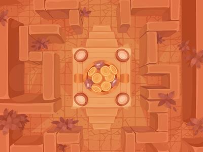 Сreete maze background for TreasureHunters game  isometric item Сreete game art decor treasure hunters adobe flash concept art pykodelbi anna ivanova nikita oscolcov background