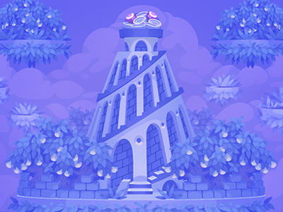 Babilonia tower background for TreasureHunters game tower babilonia isometric game art decor treasure hunters adobe flash concept art pykodelbi anna ivanova nikita oscolcov background