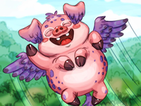 Flying Piggy creature character