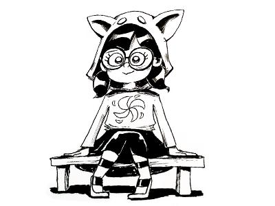 Before bedtime characterdesign art fun cute inking character illustration drawing cartoon ink sketch