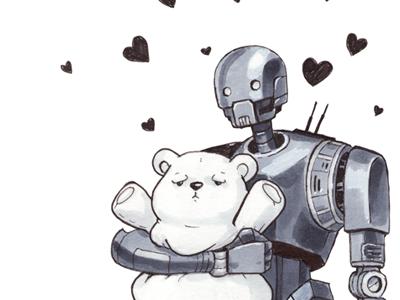 K-2SO Loves You! starwars rogue one patreon k2so illustration droid drawing disney art