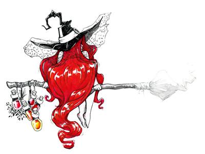 Witch!!! Free HD Scan spell colorscript sketchbook girl artwork print color ink illustration inktober witch witchcraft