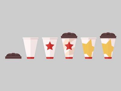 Take Away Coffee Cup set energy flat vector style store creative market sale art vector drink paper cup coffee take away