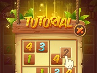 Cartoon Sudoku Puzzle Full Game Set with GUI by Graphic