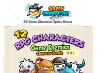 RPG Game Enemies Character Bundle 01 by Graphic Assets on