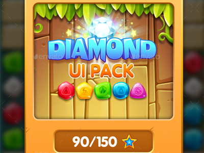Cartoon Game UI Pack 1 by Graphic Assets on Dribbble