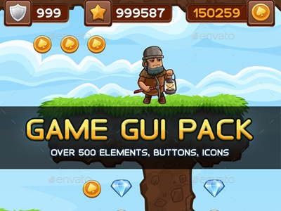 Universal Game GUI Pack by Graphic Assets on Dribbble