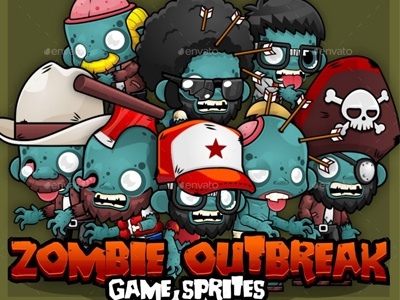 Zombie Outbreak Game Sprites By Graphic Assets On Dribbble