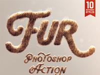 Realistic Fur Photoshop Actions