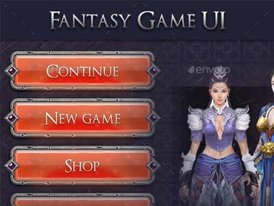 Fantasy Game UI - MMO RPG by Graphic Assets on Dribbble