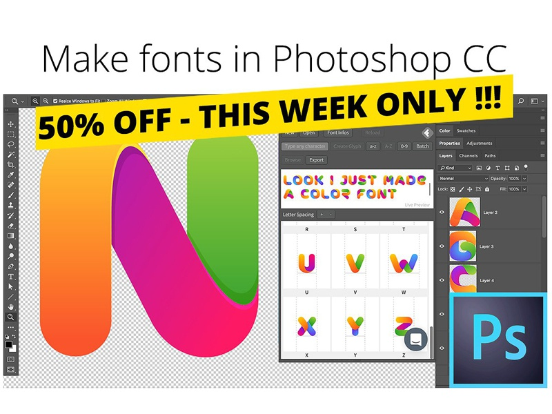 Fontself: Make fonts in Photoshop by Graphic Assets on Dribbble