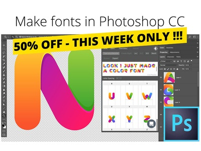 Fontself: Make fonts in Photoshop by Graphic Assets - Dribbble