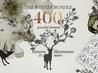 Golden Winter Patterns Bundle