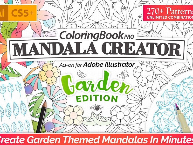 Coloring Book Pro - Garden Edition by Graphic Assets on Dribbble