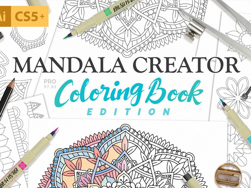 Coloring Book Mandala Creator by Graphic Assets on Dribbble