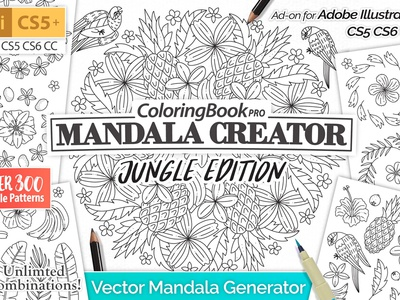 Mandala Creator Jungle Edition By Graphic Assets