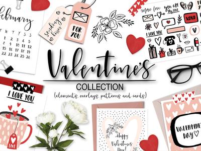 Valentine's Day Overlays & Clipart