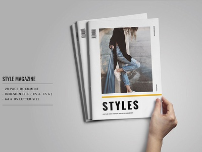 Styles Magazine boho design magazine design portfolio catalog modern magazine folio template brochure lookbook template brochure template styles magazine magazine magazine template