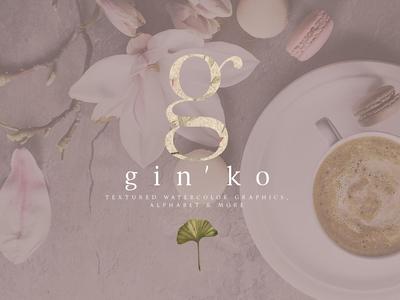 GIN'KO Textured Watercolor Graphics