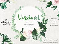 Verdant Flower Graphic Set