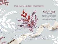 Folkloric Floral Set