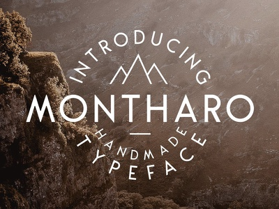 Montharo Typeface + Extras custom font typography logo font logo rough font vintage font classic font hand made free download free font typeface