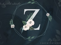 Watercolor Floral Graphics & Letters